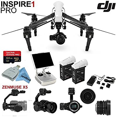 DJl lnspire 1 Pro Quadcopter Drone with eDigitalUSA Ready To Fly Kit: Includes Extra TB47B Battery, Wireless Transmitter and more...