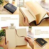 Thick Retro Notebook, Blank Premium Papers with