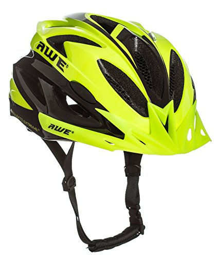 AWE® AWEAir™ FREE 5 YEAR CRASH REPLACEMENT* In Mould Adult Mens Cycling Helmet 58-61cm Neon US CPSC Standards 16 CFR 1203 Safety Tested