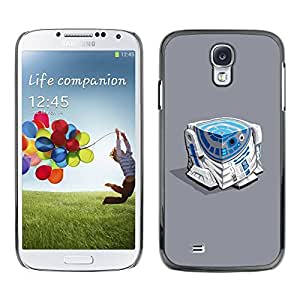 Paccase / SLIM PC / Aliminium Casa Carcasa Funda Case Cover - Character Blue White Beeping Movie - Samsung Galaxy S4 I9500
