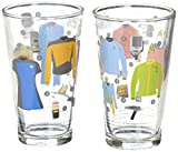 The Coop Star Trek Uniforms Pint Glasses (Set of 2)