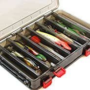 Stickfrease Fishing Lure Box Double Side 14 Compartments Multifunctional Fishing Box Hooks Spoons Storage Boxe