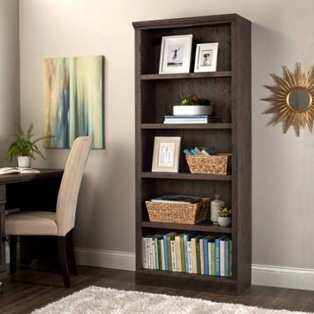 Better Homes and Gardens Crossmill 5-Shelf Bookcase Heritage Walnut Finish (Heritage Walnut)