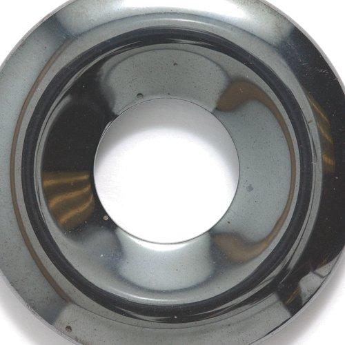 (Shipwreck Beads Focal Hematite Donut 50-mm, 3-pack)