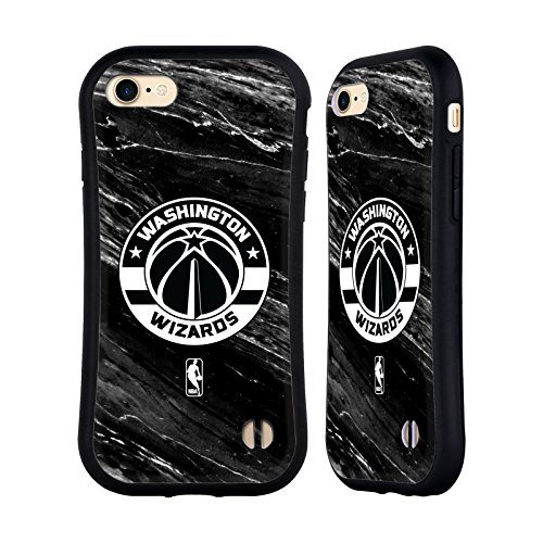 Official NBA B&W Marble Washington Wizards Hybrid Case for Apple iPhone 7 / - Wizards W