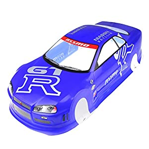 Coolplay 1/10 PVC Car Body Shell RC Racing Car Accessories NIASSN GTR- Blue