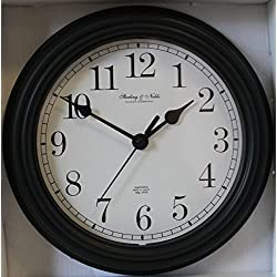 Sterling & Noble 8.75 Analog Wall Clock - Black