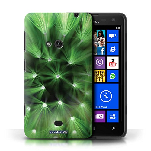 Etui / Coque pour Nokia Lumia 625 / Vert conception / Collection de Couleur/Lumière Fleur