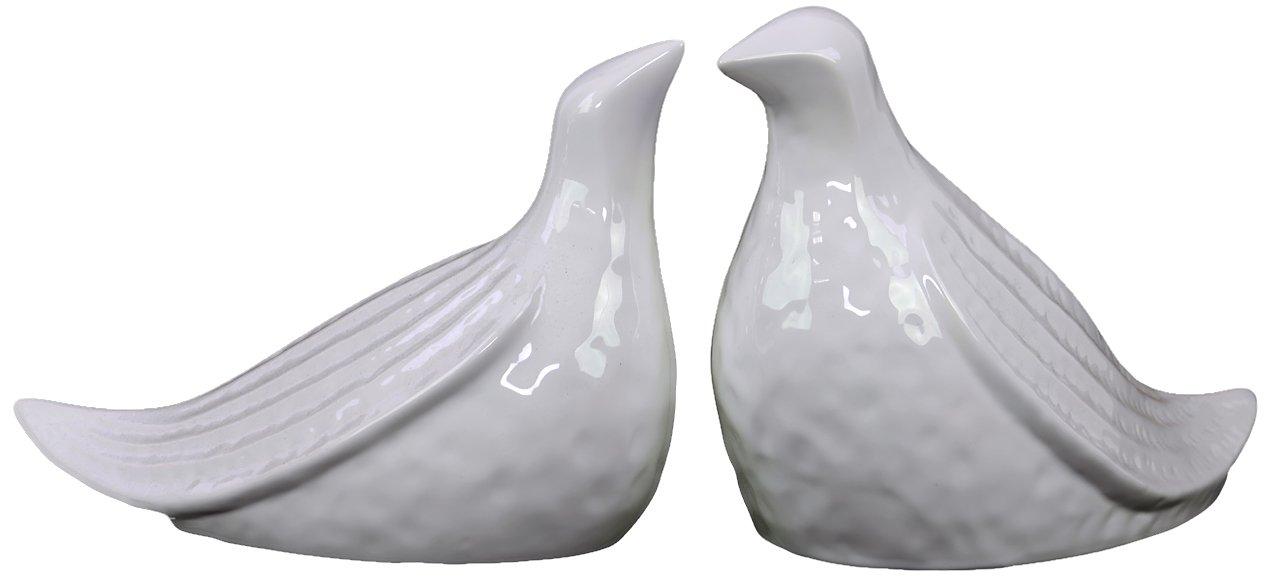 (税込) Urban Trends 73060 2 73060 Decorative Ceramic Bird, by White, Set of 2 by Urban Trends [並行輸入品] B00C03D2UA, シラミネムラ:52d44667 --- arcego.dominiotemporario.com