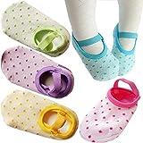 PlyingP Toddler Anti Slip Socks 5 Pairs Baby Socks