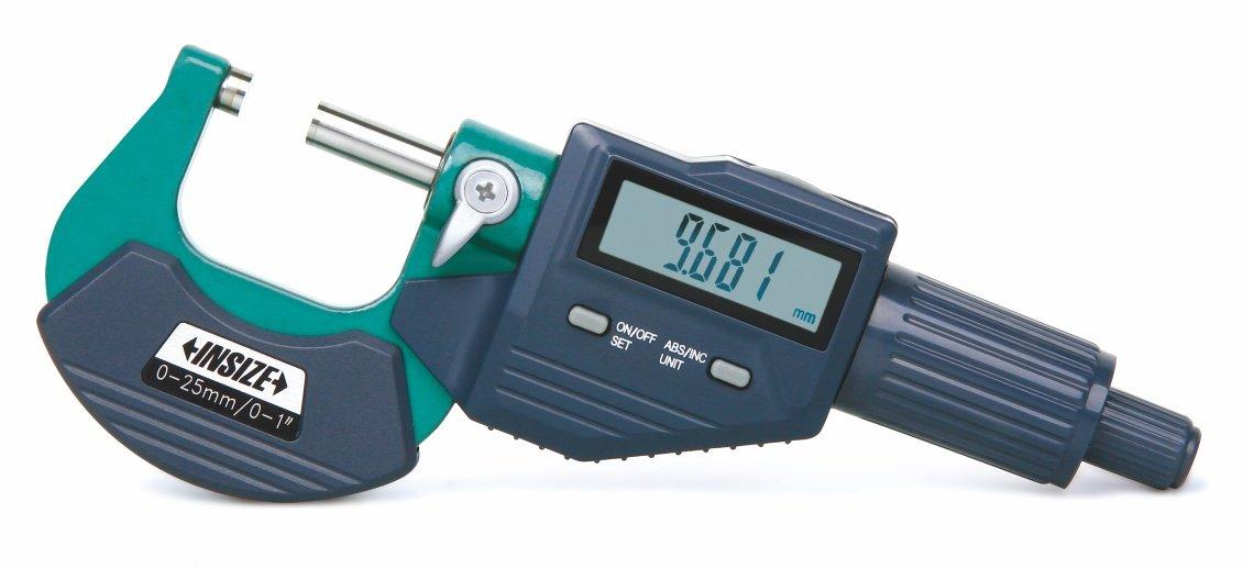INSIZE 3109-25B Digital Outside Micrometer, 0 mm-25 mm/0'-1' 0 mm-25 mm/0-1 INSIZE CO. LTD