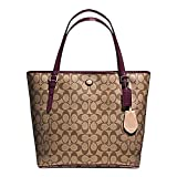 New Coach F28365 Peyton Signature Zip Tote Handbag