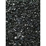 Exotic Pebbles & Aggregates EG02-L02S Landscape Glass, 2-Pound, Black