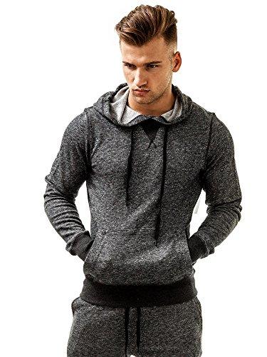 2 colori pullover in maglione uomo con felpa grigio diversi ist felpa x cappuccio w6qgwTr