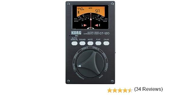 Korg KOR GT120 RS - Afinador crómatico para guitarra y bajo ...