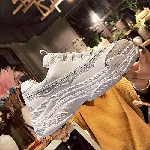 Schuhe Casual Sneaker Knöchel Boots Weiß Sonnena Schnürer Casual Damenschuhe Herbst Schuhe Turnschuhe Gymschuhe Sportschuhe Damen Outdoor Klassische Laufschuhe RgHgqxU7n