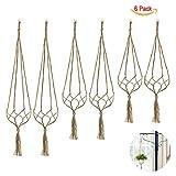 6 Pack Indoor Hanging Planter Holder, Plant Hanger, 3 Different Sizes (each size 2 pack)