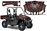 2004-2013 Yamaha Rhino 450/660/700 AMRRACING SXS Graphics Decal Kit:Widow Maker-Red-Black