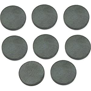 """8 Ceramic Round Disc Magnets Science Project Craft .75"""""""
