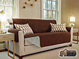 The Original GORILLA GRIP Non-Slip Furniture Protector, Cover Suede-Like Material, Slip Reducing Backing, Two 2″ Thick Straps, and Two Seat Anchors (Sofa: Brown) Picture