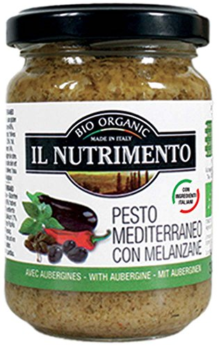 IL NUTRIMENTO Pesto Mediterraneo - mit Auberginen Und Oliven, 2er Pack (2 x 130 g)