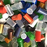 19 DRAM POP TOP BOTTLES QTY SIZE COUNT CASE Squeeze Medical Cannabis Weed Pot GanJa 420 Open Rx Pill Bottles Prescription Crafts Coins Storage Medicine Containers MADE IN USA (100 PCS, MIX - RANDOM)