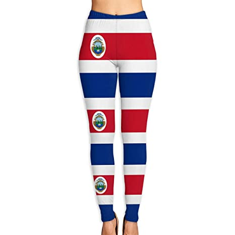 Amazon.com   HUIj Costa Rica Flag Polyester Flag Women¡¯s Yoga Pants -  Workout Running Tummy Control Stretch Power Flex Stylish Long Capris  Leggings ... 5332acfb245
