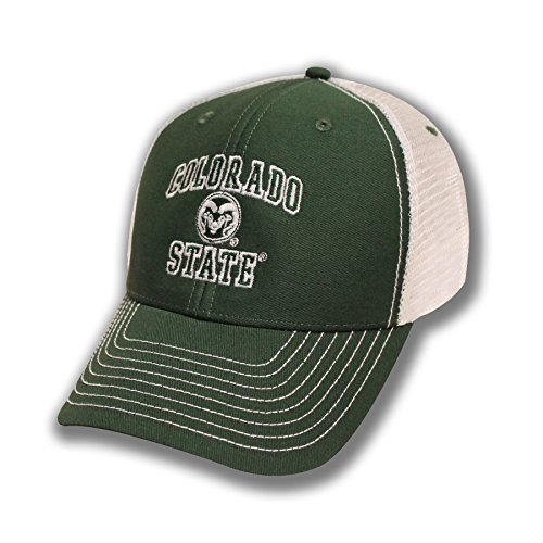 a25a753bbc91c Ouray Sportswear NCAA Colorado State Rams Adjustable Sideline Trucker Cap,  Adjustable Size, Dark Hunter