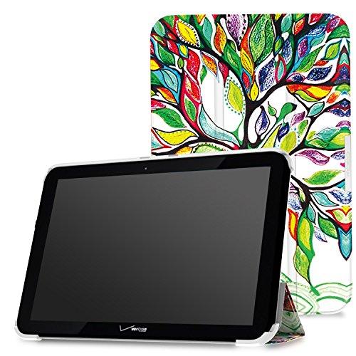 MoKo Verizon Ellipsis 10 Case - Ultra Slim Lightweight Smart-shell Stand Cover Case for Verizon Ellipsis 10 2015 Tablet, Lucky TREE