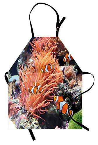 Lunarable Fish Apron, Striped Sea Anemone Clown