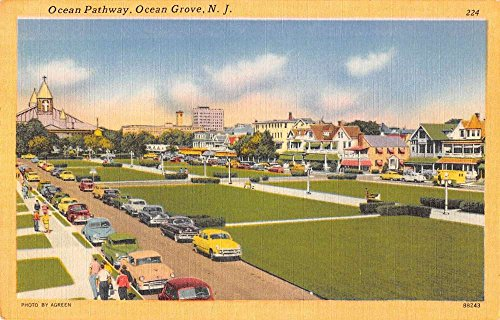 - ocean pathway ocean grove new jersey Antique Postcard L3544