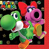 yoshi ware - Amscan Swank Super Mario Brothers Birthday Party Beverage Napkins Tableware (16 Pack), 5