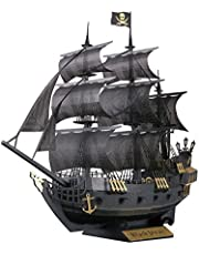 Paper Nano PN124 Black Pirate Ship Building Kit