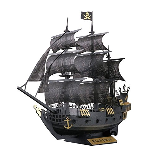Paper Nano Black Pirate Ship Building Kit
