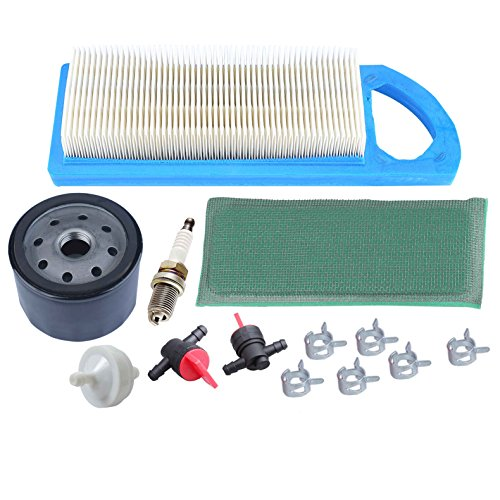 HIPA Tune-up Kit 698083 394358S 394358S 494768 for Briggs & Stratton Intek 15.5 and 17-17.5HP Tractor Engines with Plastic Air Filter Housing