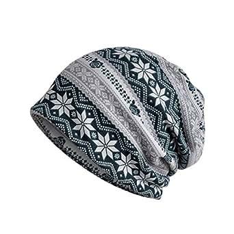 Chemo Cap Turban Headwear Womens Soft Beanie Headwrap for Hairloss (Flower 1344-1 Green)