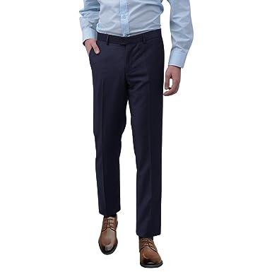Anself - Pantalón de traje - para hombre azul marino 52 ...