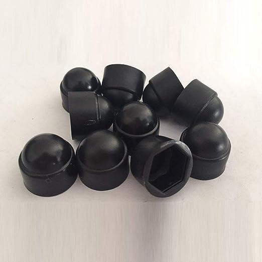 Lembeauty 145/pi/èces /Écrou et Boulon couvertures M4/M5/M6/M8/M10/M12/Plastique Noir d/ôme Boulon /Écrou Hexagonal hexagonale Bouchons de Protection Coque