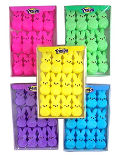 Peeps Marshmallow Candy Bunny Variety 5 Pack, 3 3/8 oz
