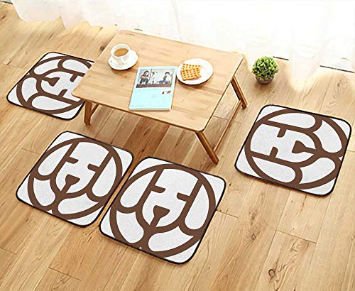- UHOO2018 Luxurious Household Cushions Chairs Puppy Logo Design Template Dog Sign pet Vector icon Soft and Comfortable W31.5 x L31.5/4PCS Set