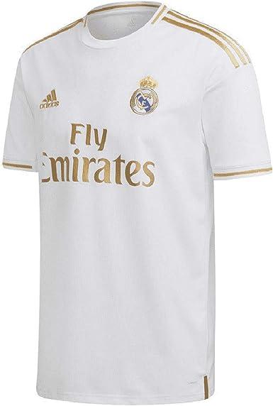 Adidas Real Madrid - Camiseta de fútbol (temporada 19/20), Blanco, medium: Amazon.es: Ropa y accesorios