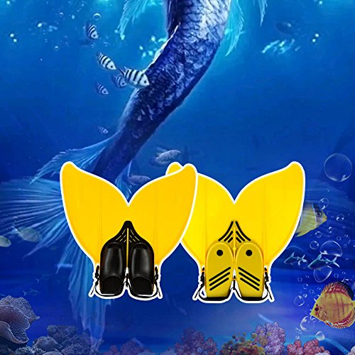 ZHX Teen Teenager Mermaid Swim Fin Diving