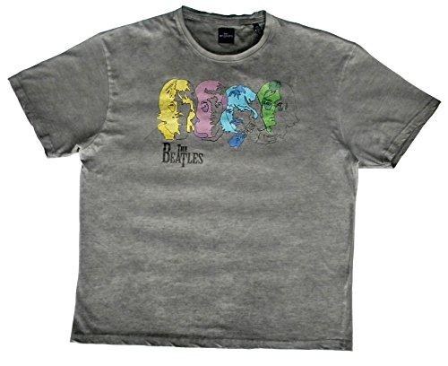 Gris Large Acts T shirt Homme Beatles qxWIXWwpvC