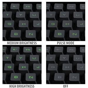 PrecisionGLO LED Backlit Gaming Keyboard with 10 Hotkeys for League of Legends , DOTA 2 , Battlefield 4 , Watch Dogs , Titanfall and More! * Includes Cleaning Cloth *