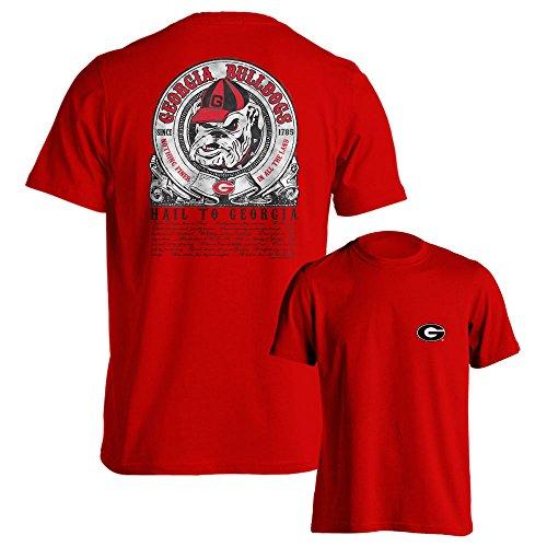 University of Georgia Bulldogs UGA Hail To Georgia Red T-Shirt - In Southland Shops