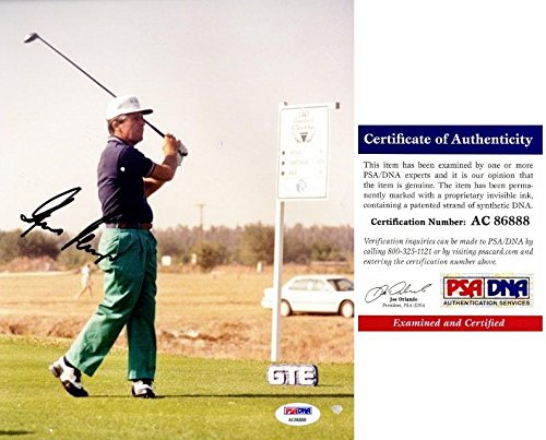 Signed Gary Player Photograph - 8x10 Certificate of Authenticity COA) - PSA/DNA Certified - Autographed Golf Photos (8x10 Autograph Certified Golf Photo)