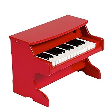 DUWEN Piano para niños, de madera, multifuncional, 25 teclas, órgano electrónico,