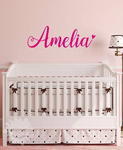 A Girls Name Decal / Custom name sticker / Personalized Wall