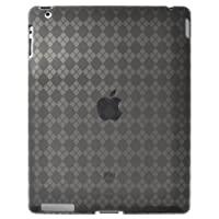 Amzer Luxe Argyle High Gloss TPU Soft Gel Skin Case for Apple iPad 2 - Smoke Grey (AMZ90784)
