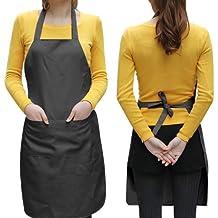 World Pride Unisex 2 Pocket Black Kitchen Apron Bib, One Size in Medium